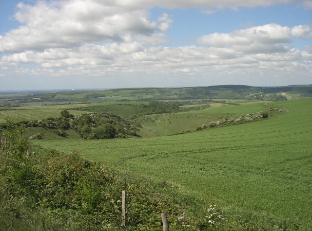 South Downs north of Worthing