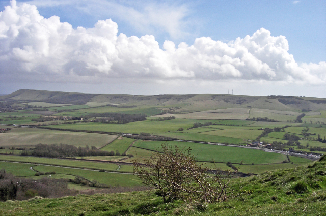 View of A27 from Mount Caburn