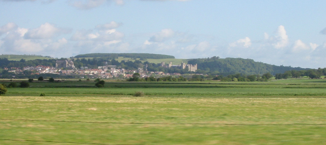 View of Arundel from train landscape-1